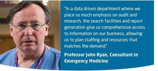 St Vincent's data driven ED transforms patient pathways