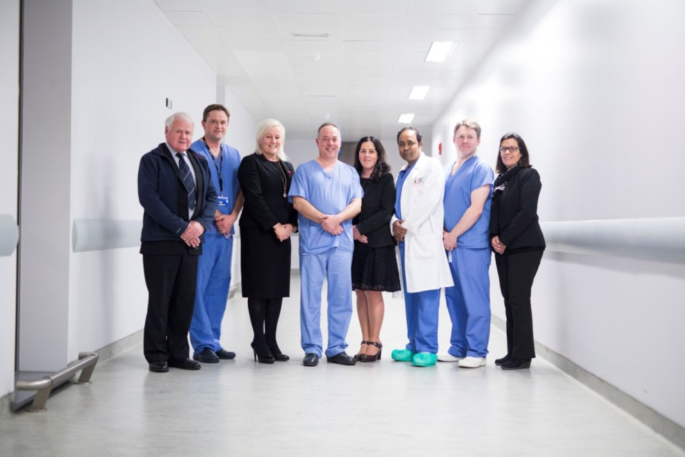 Team who carried out first Robotic Surgery