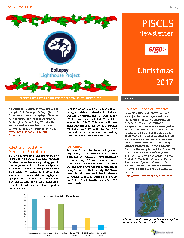 Pisces Newsletter Christmas 2017 front page preview