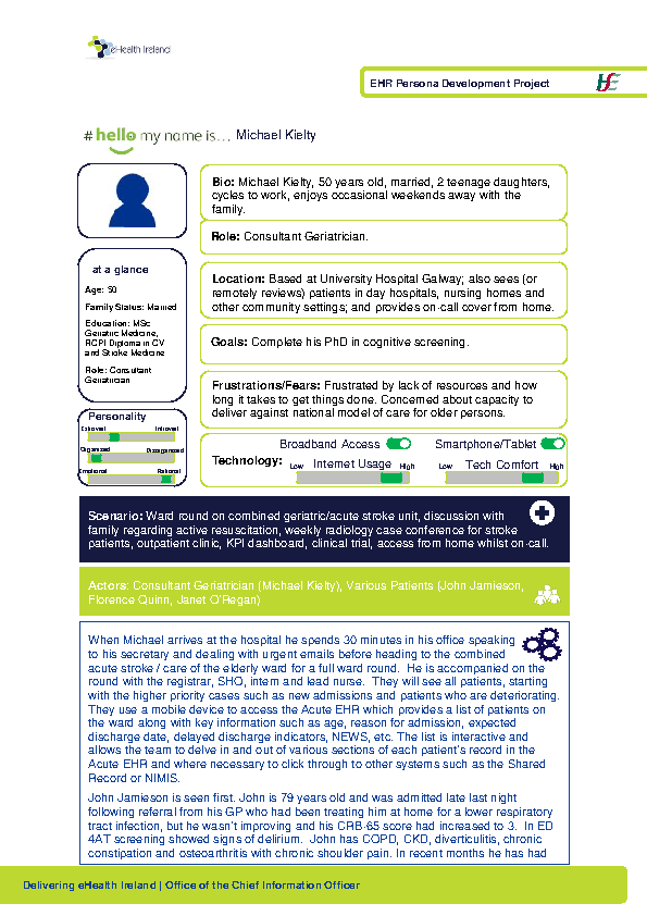 Acute HSP Consultant Geriatrician Michael Kielty v1.0 front page preview