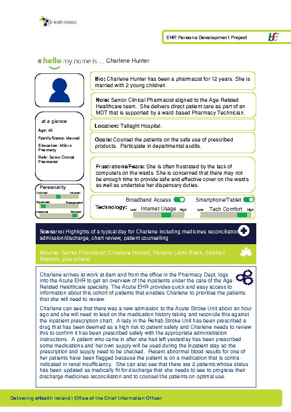 Acute HSP Hospital Pharmacist Charlene Hunter v1.0 front page preview
