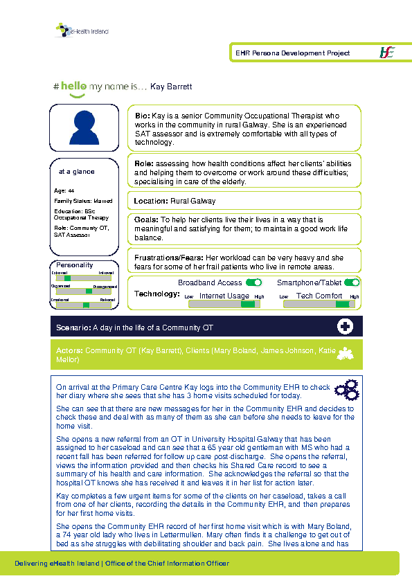 Community Care HSP Community OT Kay Barrett v1.0 front page preview