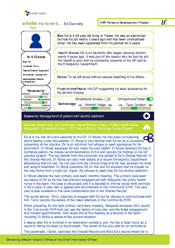 Community Care Persona Ed Donnelly Scenario 1 v1.0 front page preview